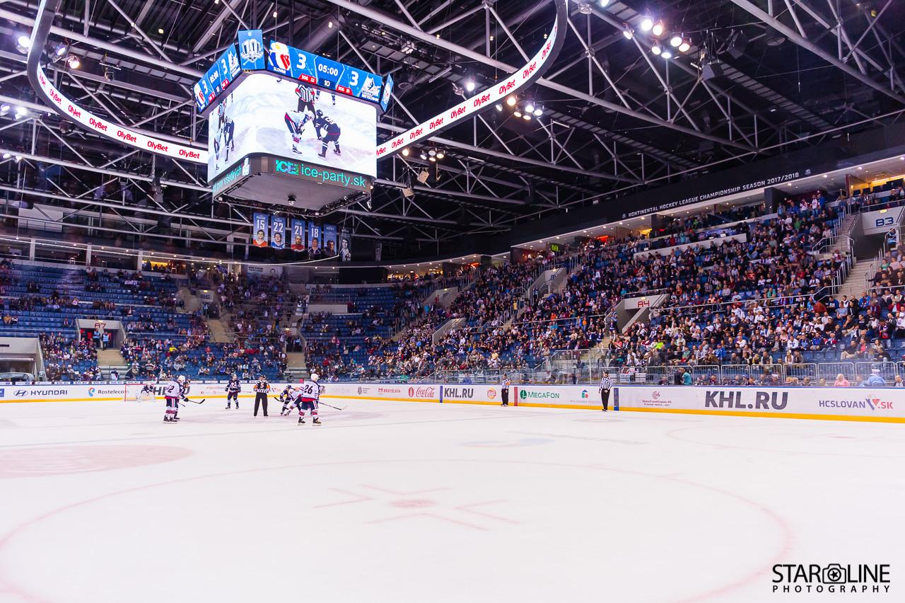 Hokejový zápas HC Slovan Bratislava – HC Neftekhimik Nizhnekamsk