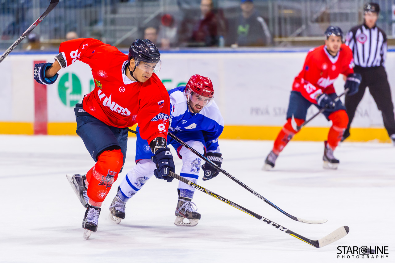 Hokejový zápas Paneuropa Kings Bratislava – University Shields Olomouc