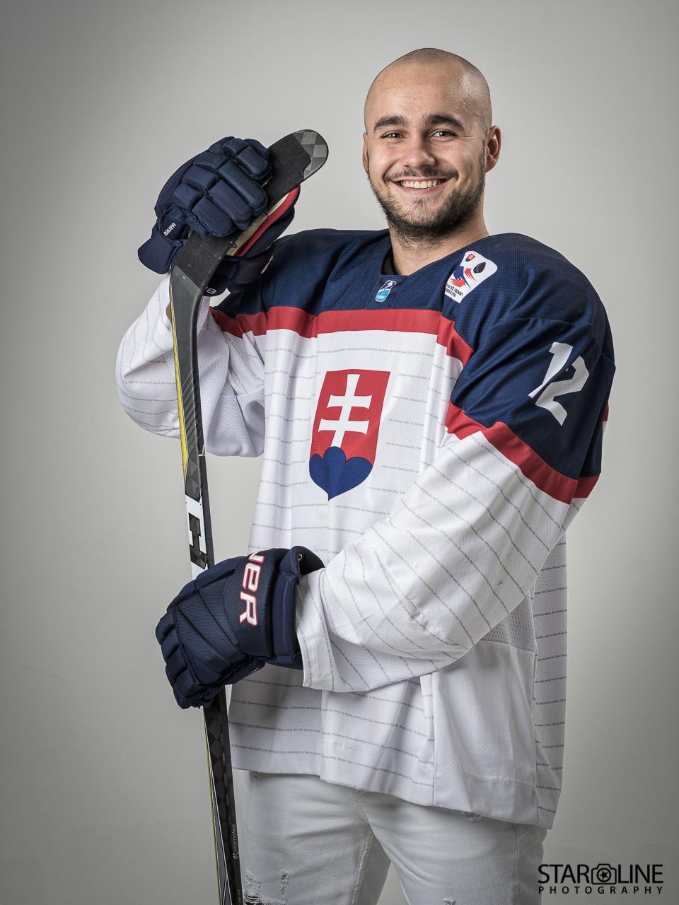 Portrét hokejového hráča