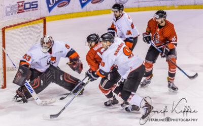 Hokejový zápas 1. ligy HC OSMOS Bratislava – HK Gladiators Trnava