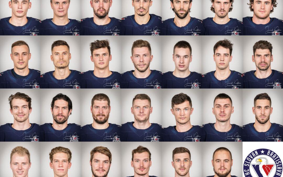 Fotenie portrétov hráčov Extraligy ľadového hokeja HC Slovan Bratislava