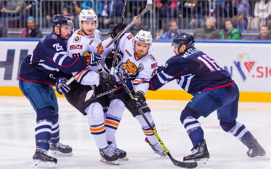 Hokejový zápas HC Slovan Bratislava – HC Amur Khabarovsk