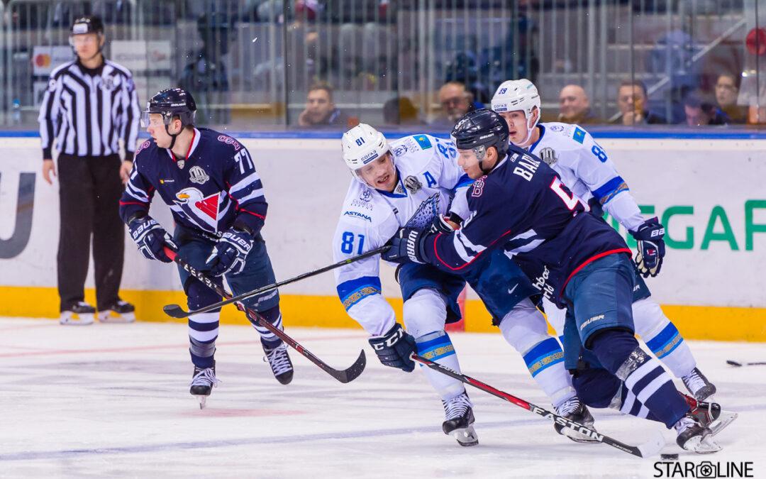 Hokejový zápas HC Slovan Bratislava – HC Barys Astana