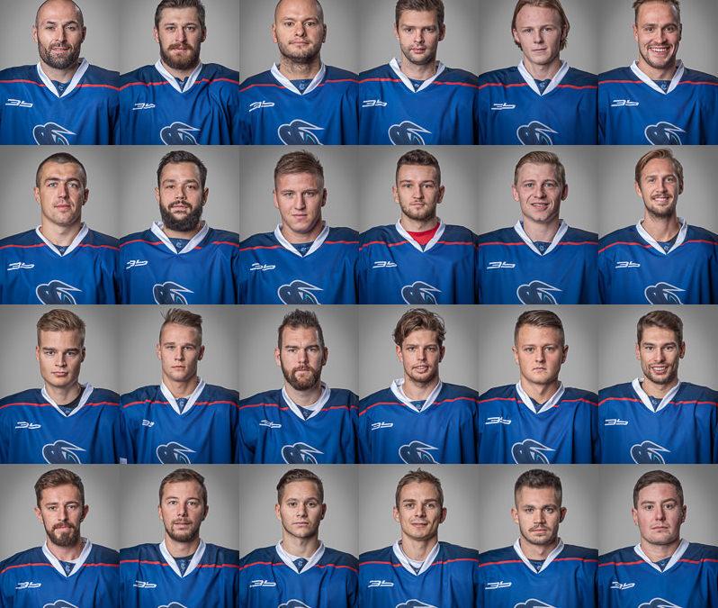 Portréty hráčov Extraligového A-mužstva HK Poprad