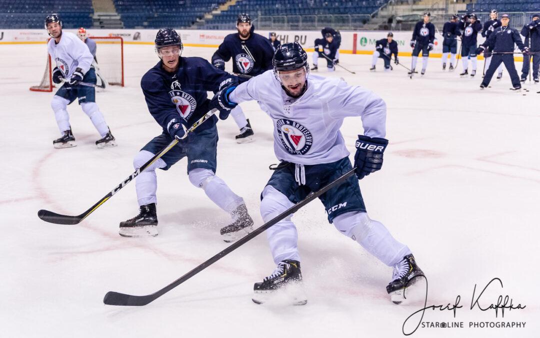 Hokejisti HC Slovan Bratislava už trénujú na domácom ľade